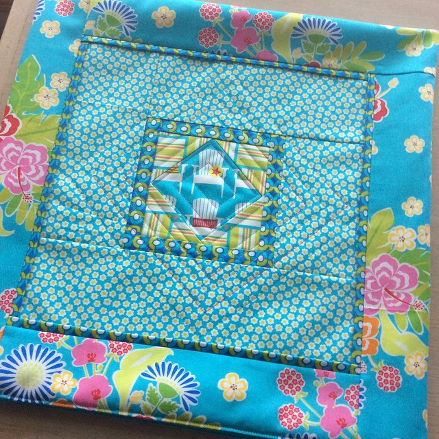 Finished another #sanibelfabric project @ginamartindesign just love the colors in…
